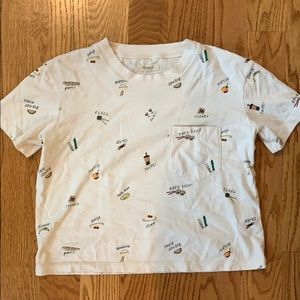 Madewell food/travel themed cotton top